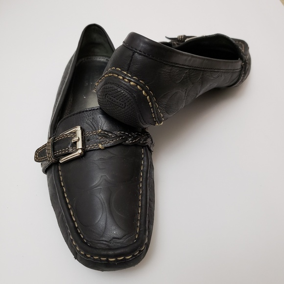 e9237a10035 Coach Shoes - Coach Black Embossed Signature Driving Loafers